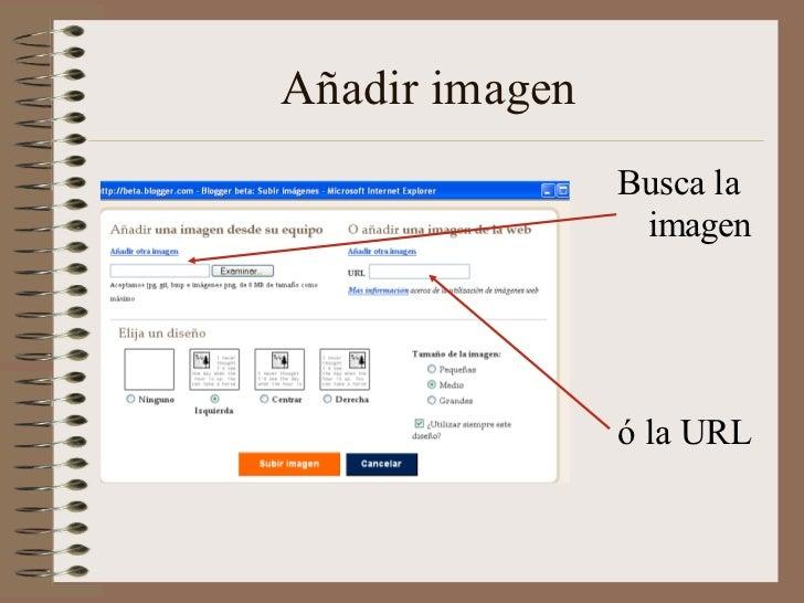 Añadir imagen                Busca la                 imagen                ó la URL