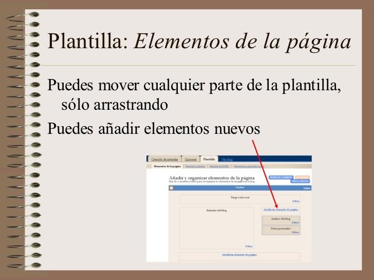 Plantilla: Elementos de la páginaPuedes mover cualquier parte de la plantilla,  sólo arrastrandoPuedes añadir elementos nu...