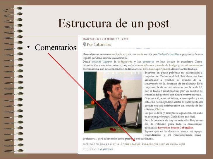 Estructura de un post• Comentarios