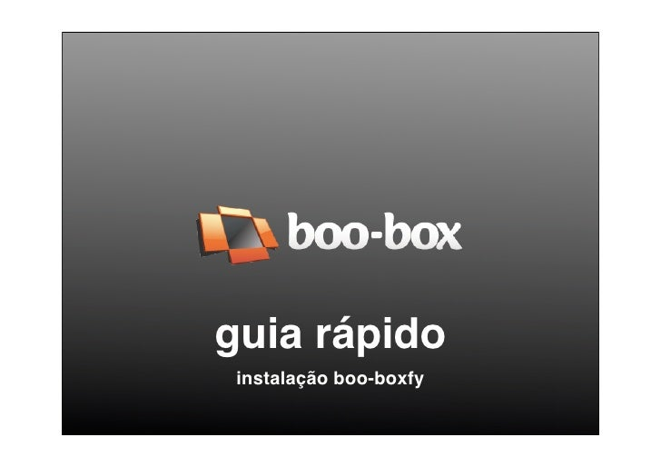 guia rápido  instalação boo-boxfy