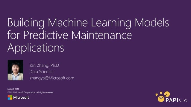 Sample Scenario Predictive maintenance in IoT applications vs. traditional predictive maintenance concepts Predictive prob...