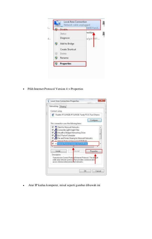 Tutorial cara sharing data file di windows 7 dengan kabel lan