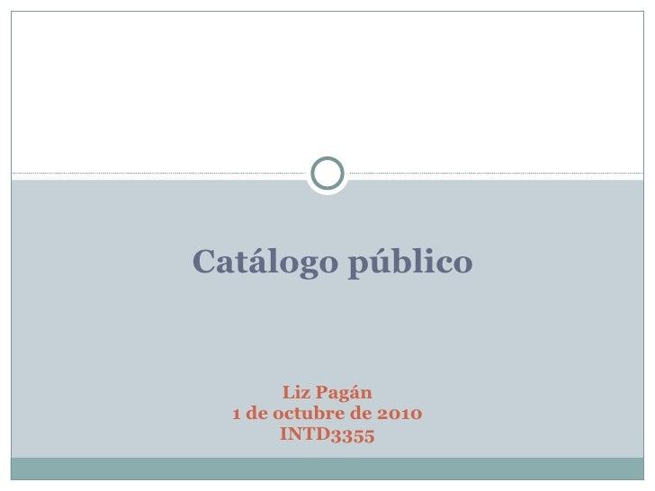 Catálogo público Liz Pagán 1 de octubre de 2010 INTD3355