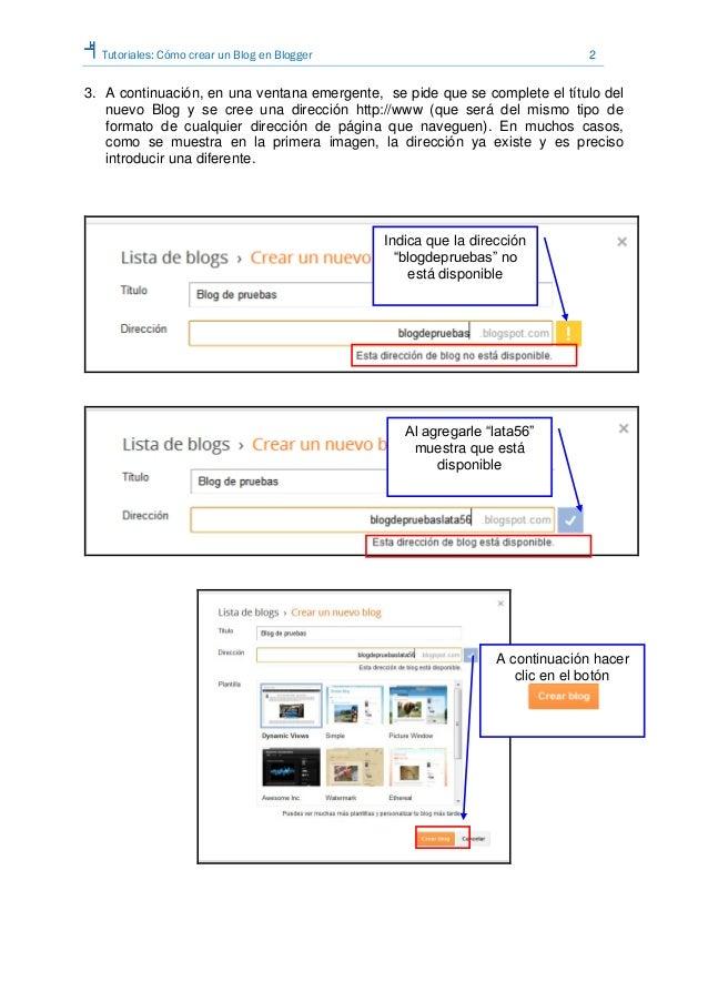 Tutorial cómo crear un blog en blogger Slide 2