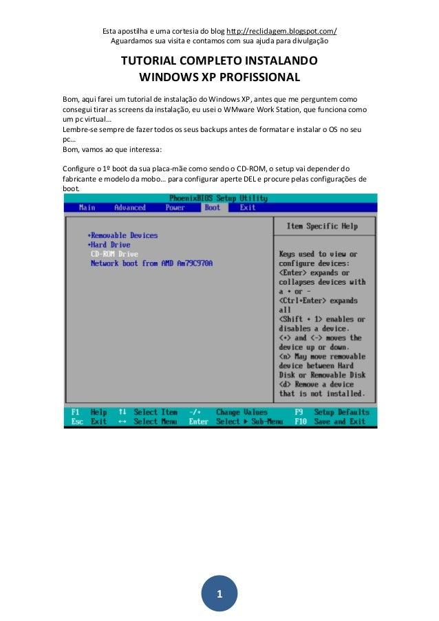 Esta apostilha e uma cortesia do blog http://recliclagem.blogspot.com/ Aguardamos sua visita e contamos com sua ajuda para...