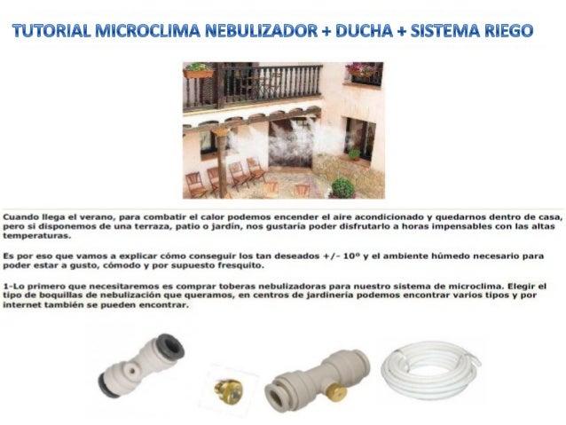 Tutorial microclima nebulizador ducha y sistema riego - Kit nebulizador terraza ...