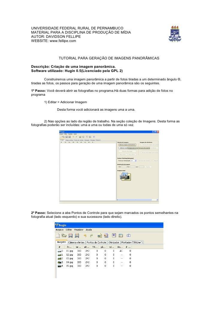 UNIVERSIDADE FEDERAL RURAL DE PERNAMBUCO MATERIAL PARA A DISCIPLINA DE PRODUÇÃO DE MÍDIA AUTOR: DAVIDSON FELLIPE WEBSITE: ...