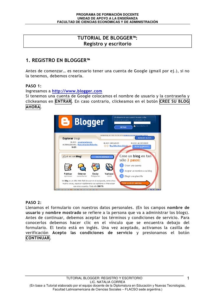 Tutorial de blogger laudis