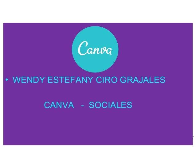 • WENDY ESTEFANY CIRO GRAJALES CANVA - SOCIALES