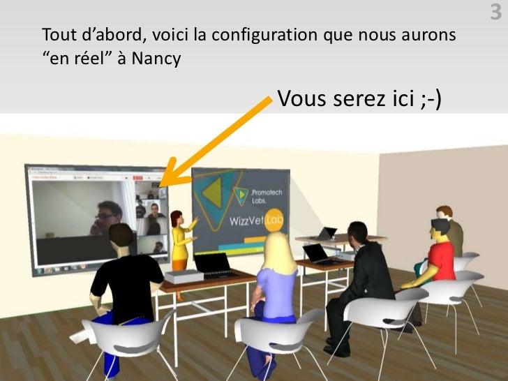 """3Tout d'abord, voici la configuration que nous aurons""""en réel"""" à Nancy                             Vous serez ici ;-)"""