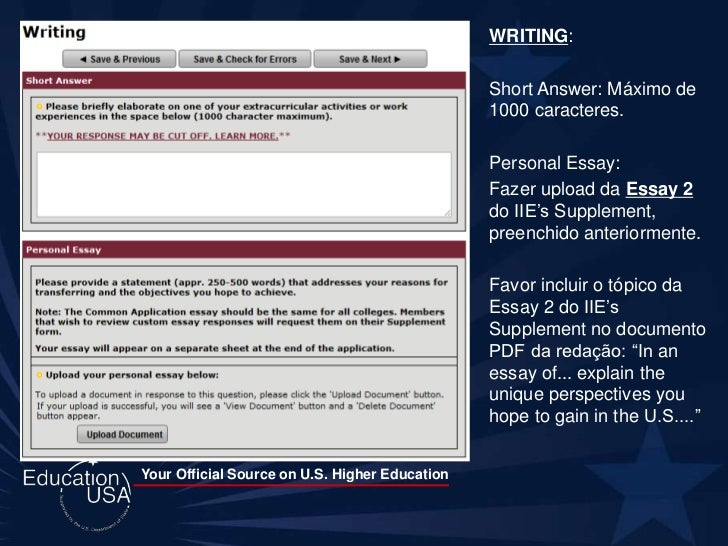 common app essay upload problem Student essay tips table of contents  academic/project proposal-common elements:  if you have a transcript problem.