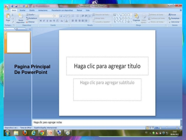 Pagina Principal                    de PowerPointPagina PrincipalDe PowerPoint