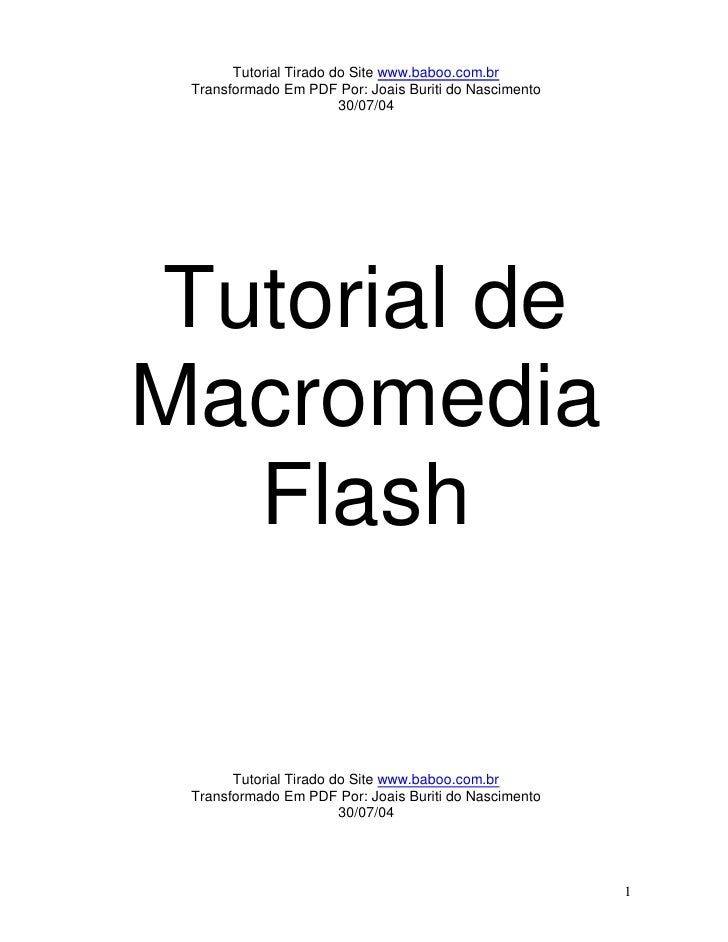 Tutorial de macromedia flash