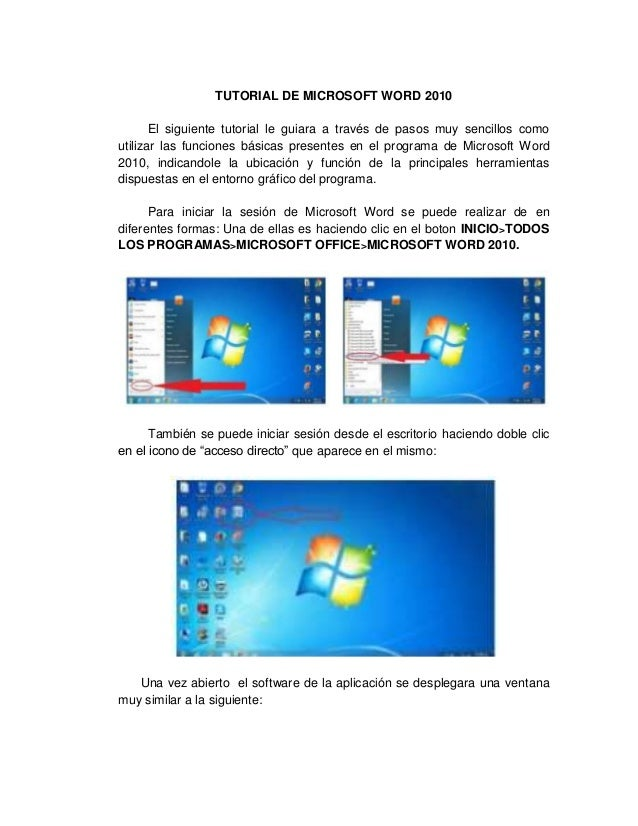 Microsoft word 2010 basic user guide lesson one an.