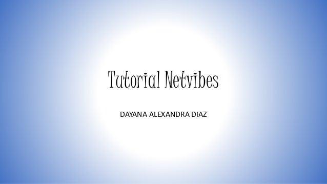 Tutorial Netvibes  DAYANA ALEXANDRA DIAZ