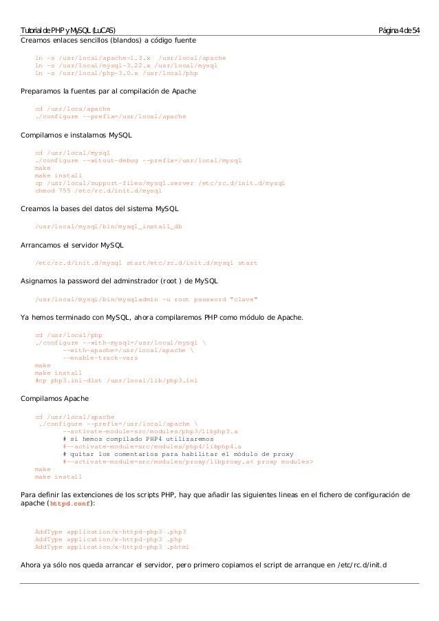 Tutorial de php y my sql completo