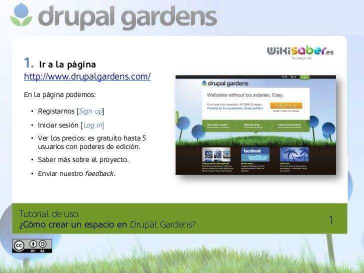 Tutorial de uso Drupal Gardens