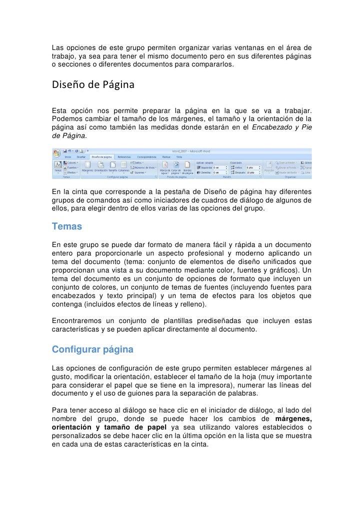 Utilizando este diálogo se pueden hacer cambios en todo el documento o solamente en una o varias secciones seleccionadas d...