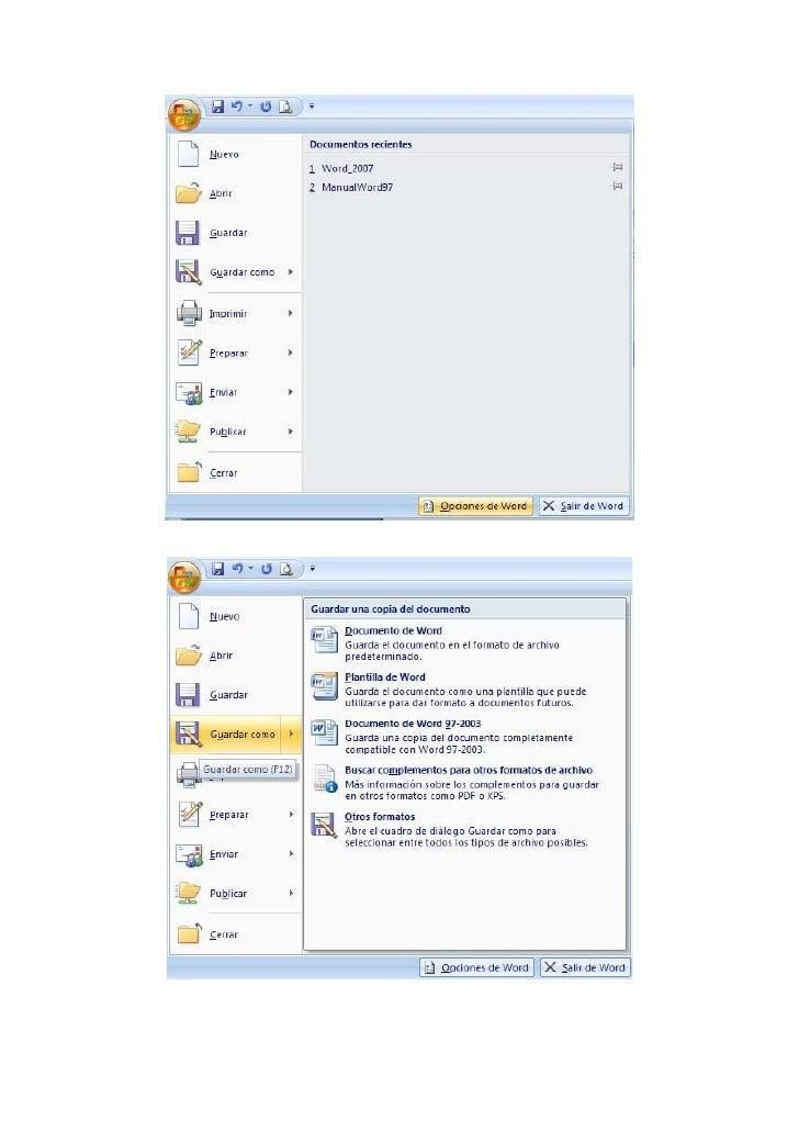 También se puede entrar directamente al diálogo de guardar como haciendo clic en la opción de Guardar como:     Imprimir: ...