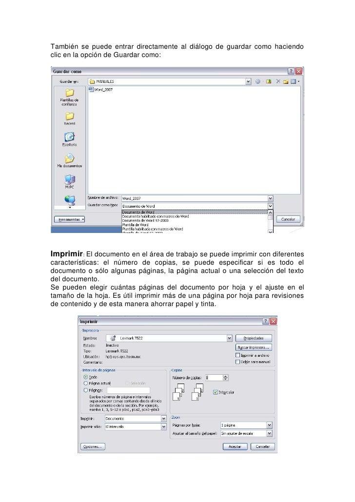 Preparar: Nos da la capacidad de editar las capacidades del documento o la metainformación como propiedades del documento....