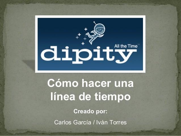 Cómo hacer una línea de tiempo Creado por: Carlos García / Iván Torres