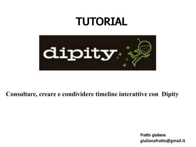 Suggerimenti per usare dipity e costruire la vostra timeline