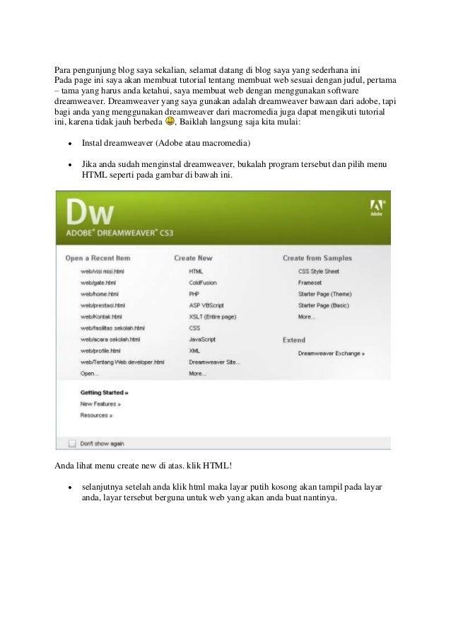 Para pengunjung blog saya sekalian, selamat datang di blog saya yang sederhana iniPada page ini saya akan membuat tutorial...
