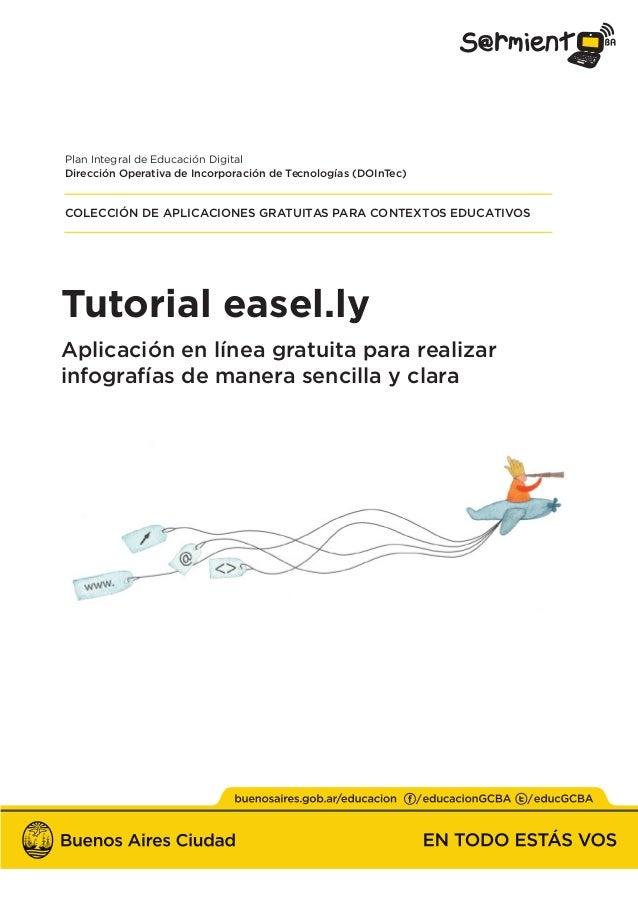 Tutorial easel.ly Aplicación en línea gratuita para realizar infografías de manera sencilla y clara Plan Integral de Educa...