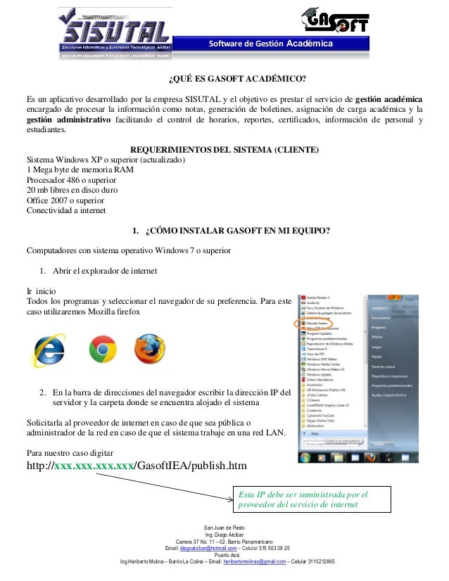 Software de Gestión Académica                                                 ¿QUÉ ES GASOFT ACADÉMICO?Es un aplicativo de...