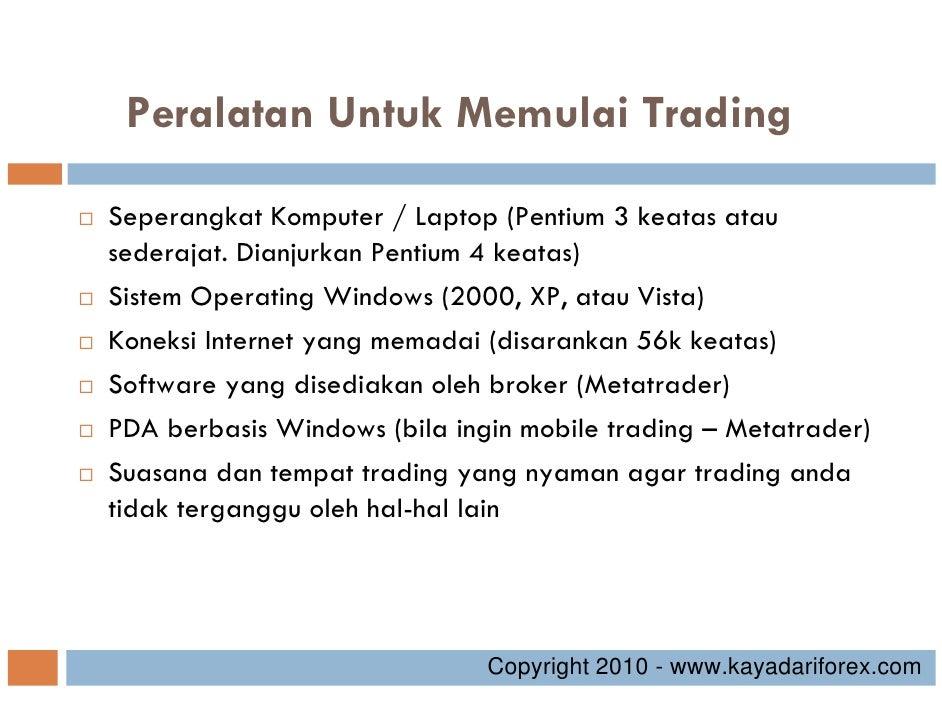 Modal minimum untuk trading forex