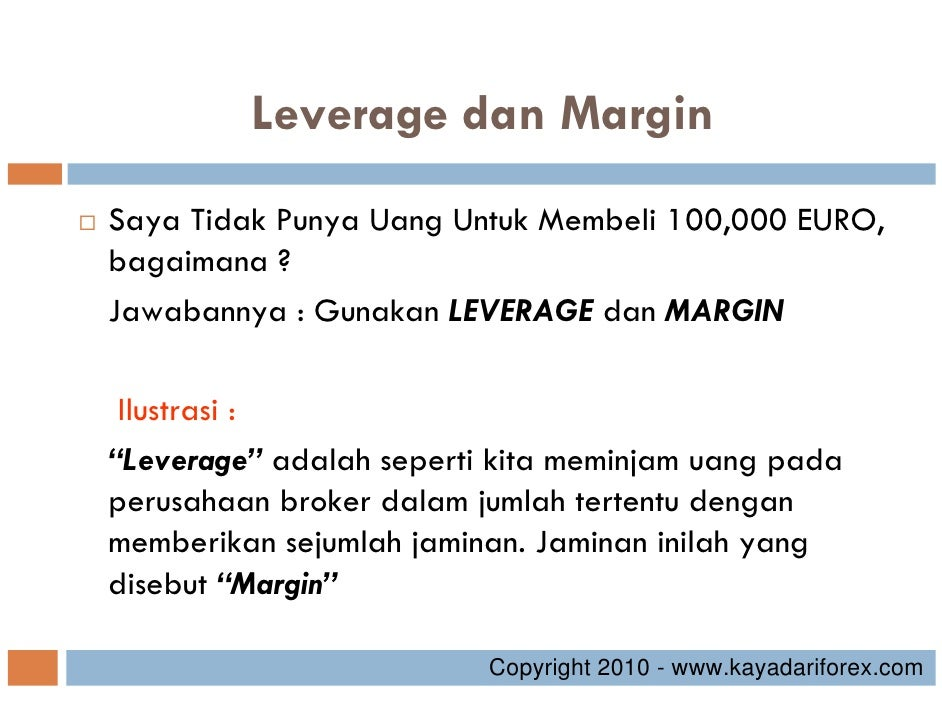 Pengertian margin dalam forex