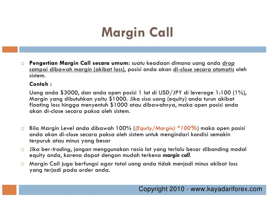 Rumus margin call forex