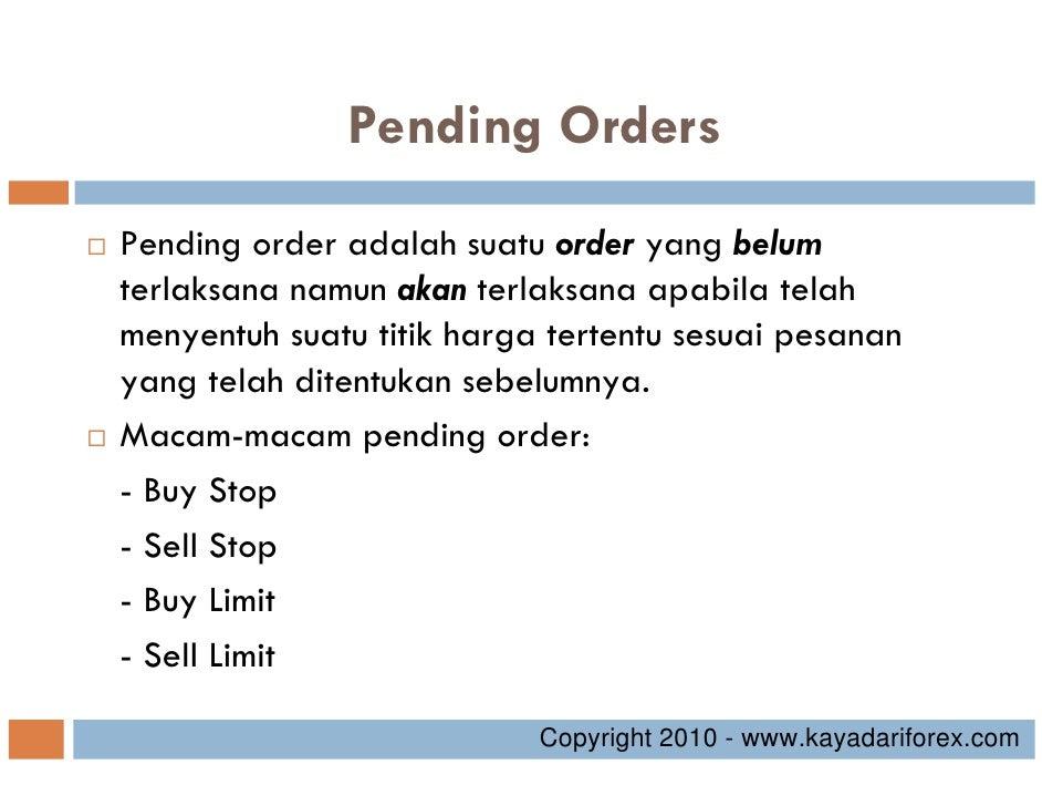 Pengertian pending order di forex