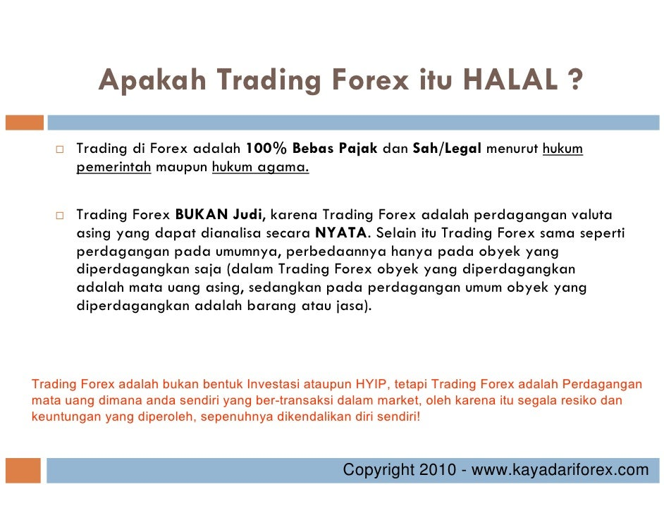 Trading in forex halal