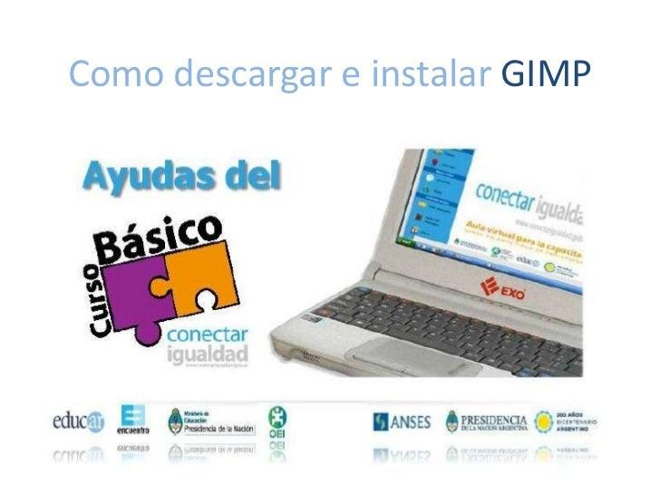 Como descargar e instalar GIMP