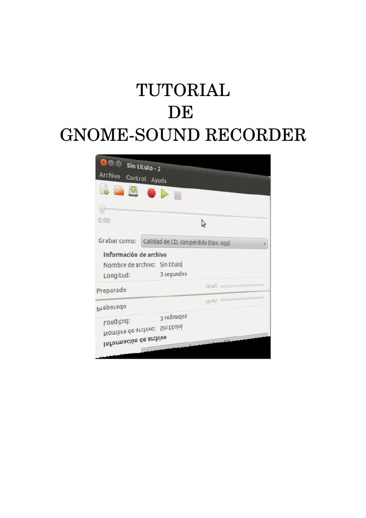 Tutorial gnome sound_recorder