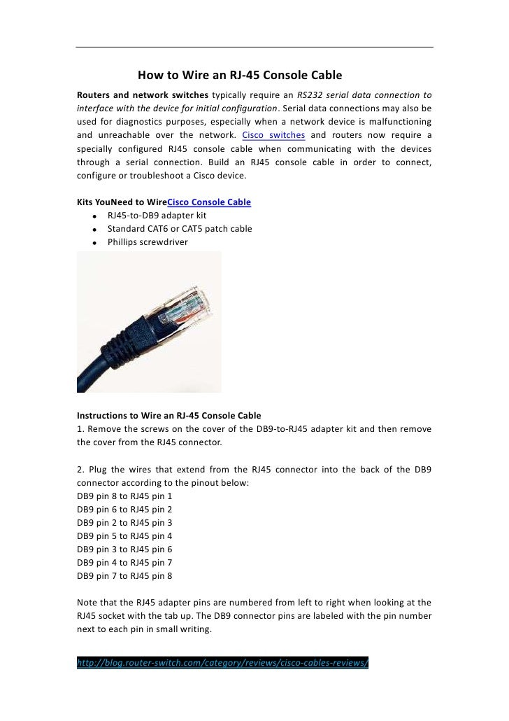 tutorial how to wire an rj 45 console cable 1 728?cb=1336443840 tutorial how to wire an rj 45 console cable