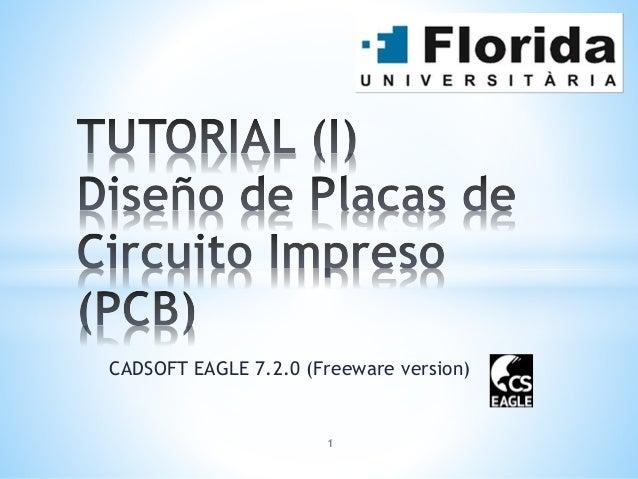 CADSOFT EAGLE 7.2.0 (Freeware version) 1