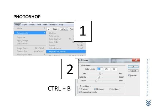 PHOTOSHOP  CTRL + B             2                            1fakar.suhartami@gmail.com