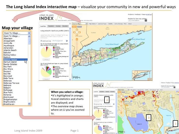 <ul><li>When you select a village: </li></ul><ul><li>It's  highlighted in orange ; </li></ul><ul><li>Local statistics  and...