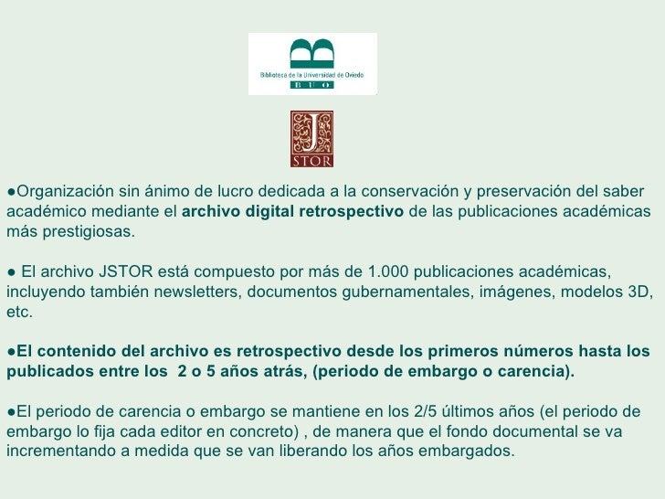 ● Organización sin ánimo de lucro dedicada a la conservación y preservación del saber académico mediante el  archivo digit...