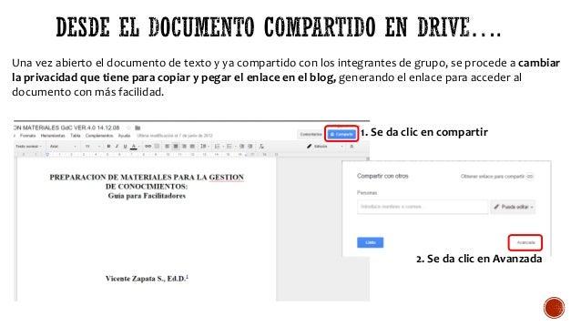 Una vez abierto el documento de texto y ya compartido con los integrantes de grupo, se procede a cambiar la privacidad que...
