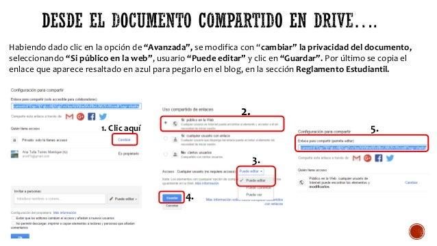 """Habiendo dado clic en la opción de """"Avanzada"""", se modifica con """"cambiar"""" la privacidad del documento, seleccionando """"Si pú..."""
