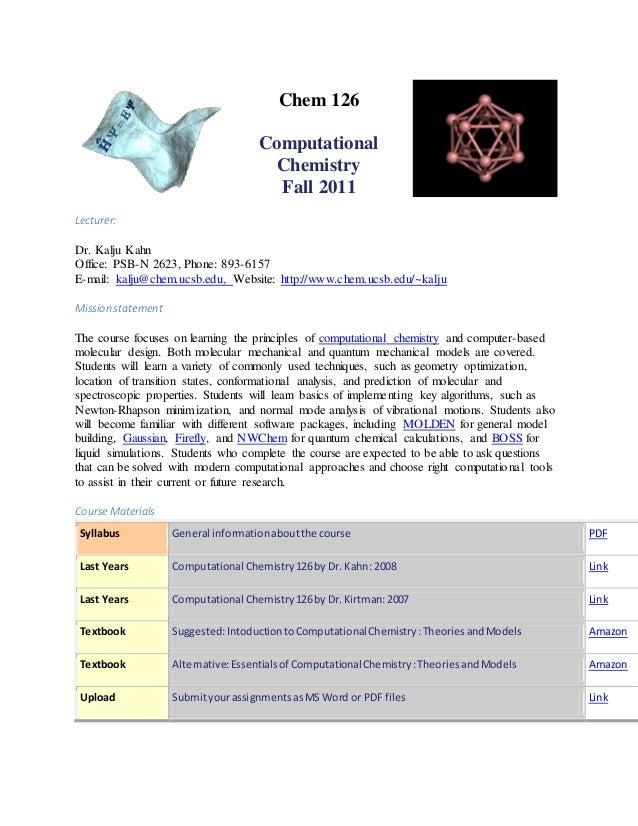 Tutorial komputasi chem 126