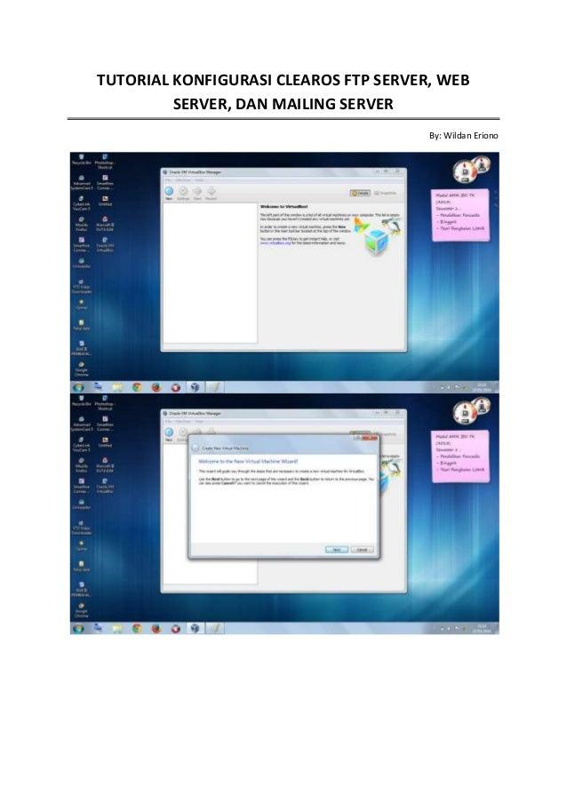 Tutorial konfigurasi clearos Web Server, FTP Server, Mailing