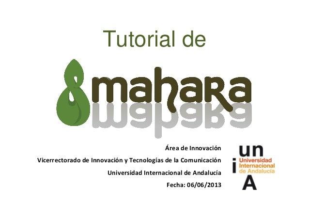 Tutorial deÁrea de InnovaciónVicerrectorado de Innovación y Tecnologías de la ComunicaciónUniversidad Internacional de And...