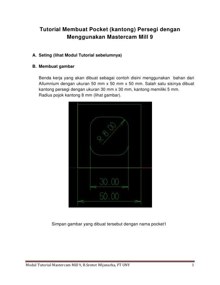Tutorial mastercam milling 9 untuk pemula2