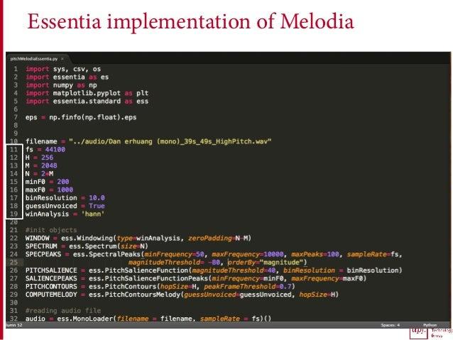 Essentia implementation of Melodia