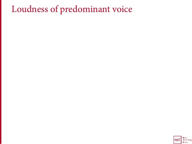 Loudness of predominant voice
