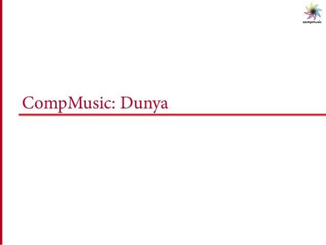 CompMusic: Dunya